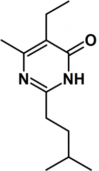 5-Ethyl-6-methyl-2-(3-methylbutyl)-4(3H)-pyrimidinone